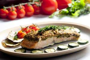 Metabolic Balance Proof? Gegrilde zalm met courgette en tomaat